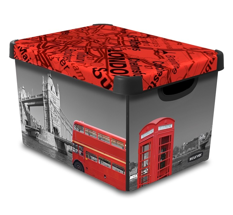 Curver LONDON dekorativní úložný box L 04711-L08