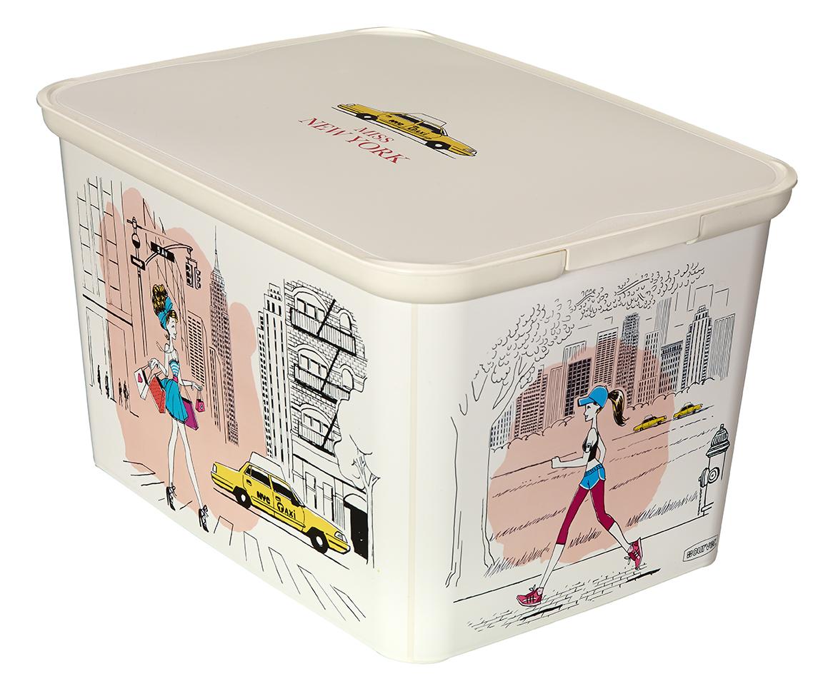 Curver úložný box AMSTERDAM L - Miss New York 04730-M35