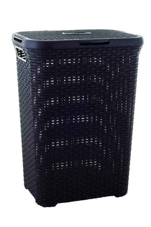 Curver RATTAN koš na prádlo 60l černý 00707-210