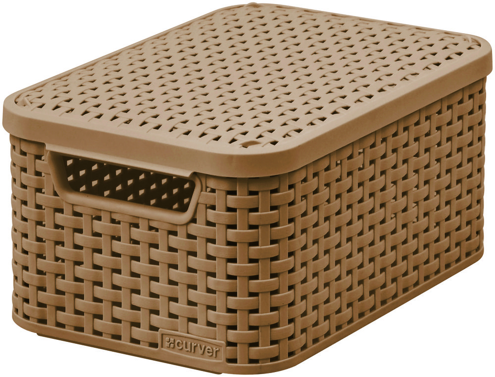 Curver úložný box RATTAN Style2 - tmavá mocha 03617-213