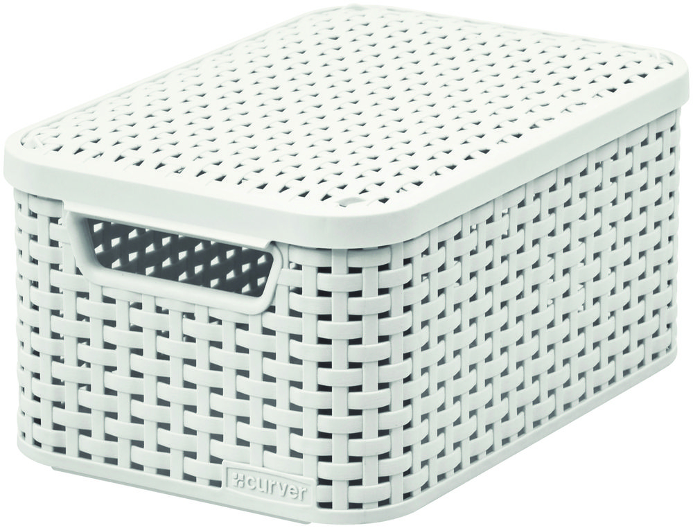 Curver úložný box RATTAN Style2 - krémová 03617-885