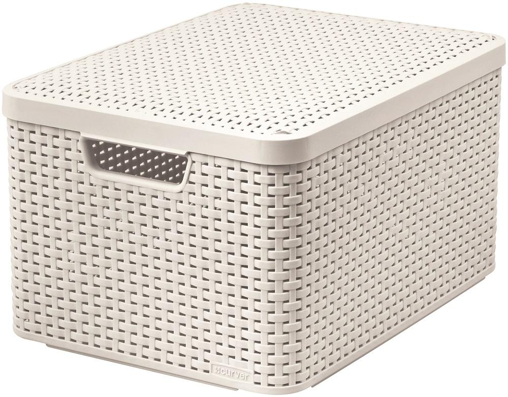 Curver Rattan Style L úložný box s víkem 03619-885