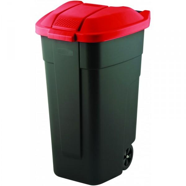 Curver popelnice 110 l červená 12900-879