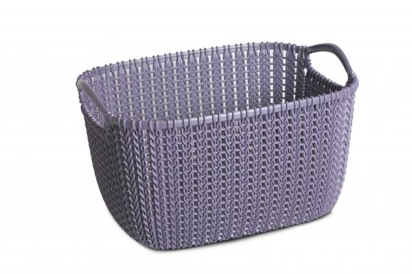 Knit hranatý koš 8l fialový 03674-X66