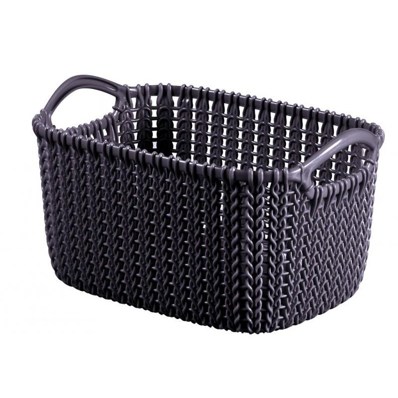 Knit hranatý koš 3l fialový 03675-X66