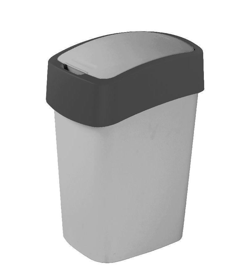 Odpadkový koš Flipbin 10 l - šedý