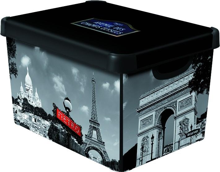 Curver PARIS dekorativní úložný box S 04710-P35