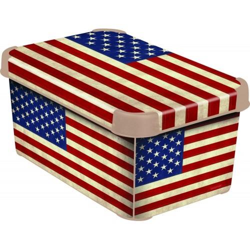 Curver AMERICAN FLAG dekorativní úložný box L 04711-A33