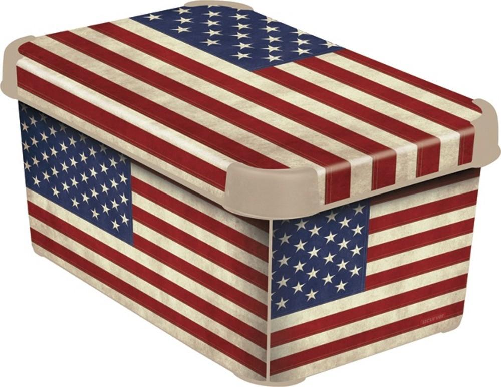 Curver AMERICAN FLAG dekorativní úložný box S 04710-A33