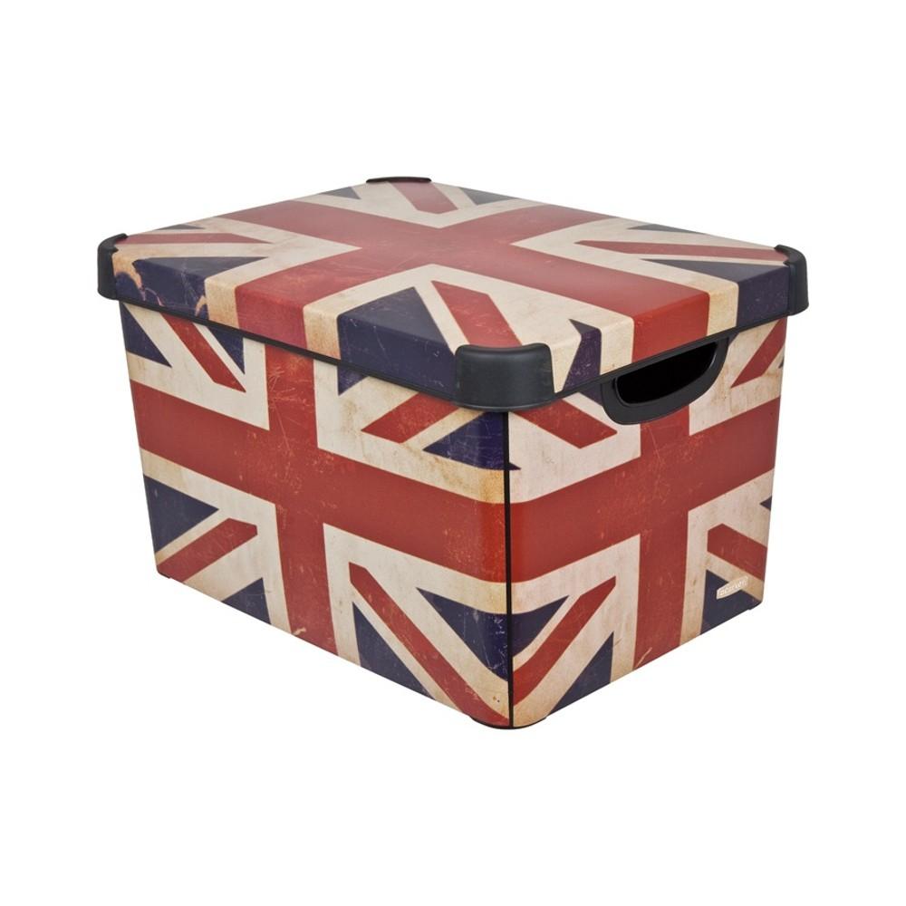 Curver dekorativní úložný box L - BRITISHFLAG 04711-D99