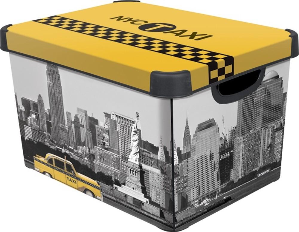 Curver NEW YORK dekorativní úložný box L 04711-D16