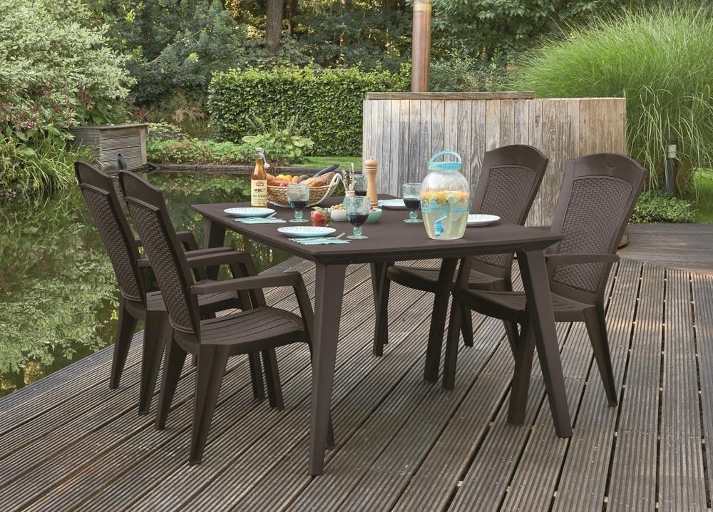 Allibert Minnesota Zahradní židle Minnesota hnědá 209239