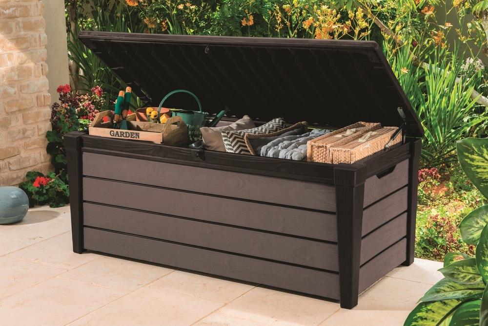 Zahradní úložný box Brushwood, 454L hnědá 230408