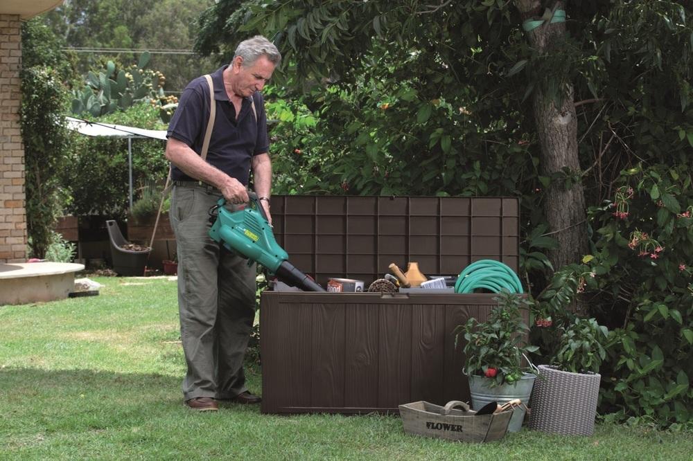 SHERWOOD Zahradní úložný box 270L hnědá 230403