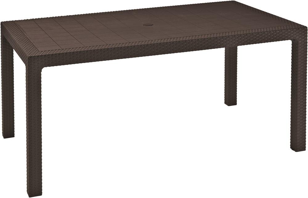 Allibert Zahradní stůl Melody hnědý 230667