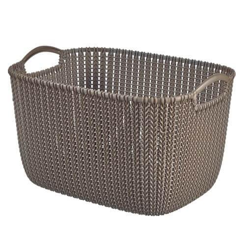 Curver KNIT košík 19l pletený hnědý 03670-X59