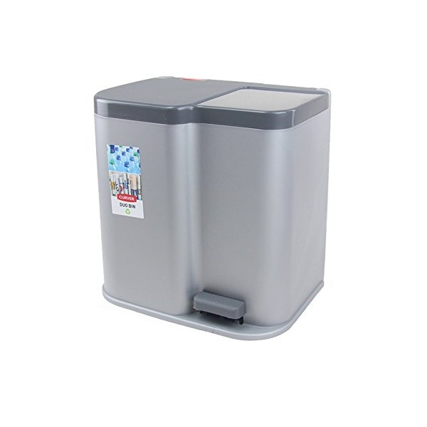 Curver Odpadkový koš Duo stříbrný 04027-491